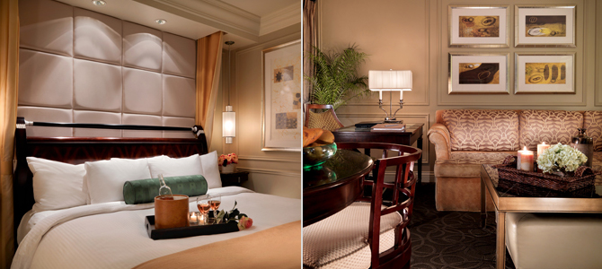 Stay at the Venetian where every room is a suite.